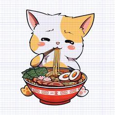Kawaii neko ramen cute ramen cat japanese noodle funny anime png,kawaii neko ramen cute ramen cat japanese noodle funny anime