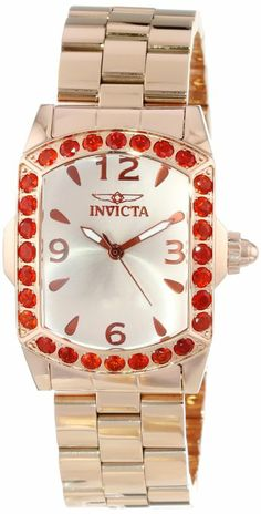 Invicta Women's 14494 Lupah Champagne Dial Fire Opal Accented Rose Gold Ion-Plated Stainless Steel Watch >>> Details can be found by clicking on the image. Stainless Steel Watch, Stainless Steel Bracelet, Cool Watches, Watches For Men, Ladies Watches, Womens Day Date, 18k Rose Gold, Quartz Watch, Gold Watch