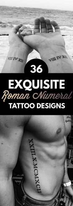 36 Exquisite Roman Numeral Tattoos Designs   TattooBlend