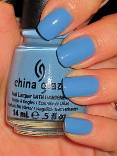 Fabulous blue! (China Glaze Electric Beat)