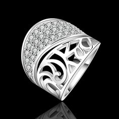 Wholesale Lady Charm Fashion 925 Sterling Silver AAA Zircon Ring R612 Xmas Gifts | eBay