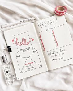 Simple Bullet Journal Ideas To Organize Your Ambitious Goals Well . - Simple Bullet Journal Ideas To Organize And Accelerate Your Ambitious Goals Well – - Bullet Journal 2018, Bullet Journal Simple, February Bullet Journal, Bullet Journal Spread, Bullet Journal Layout, Bullet Journal Inspiration, Book Journal, Journal Ideas, Journal Covers