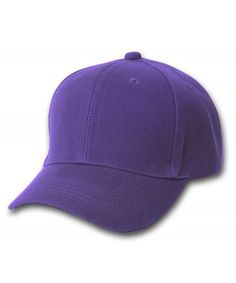 84c96cf28ff84 Plain Baseball Cap Blank Hat Solid Color Velcro Adjustable 13 Colors  (Purple) C911EWMBMOR