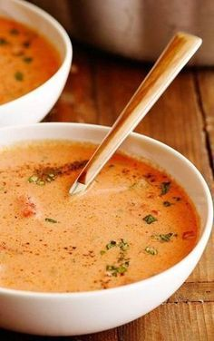 Best Tomato Soup Ever A Far-From-The-Can Tomato Soup Is About More Than Juicy Tomatoes. Mix In Cream And Sherry, Plus A Little Sugar, For A Balanced Spoonful Flecked With Fresh Basil And Flat-Leaf Parsley. Vegetarian Recipes, Cooking Recipes, Healthy Recipes, Healthy Soup, Dinner Healthy, Keto Recipes, Healthy Eating, Healthy Fats, Sauce Recipes