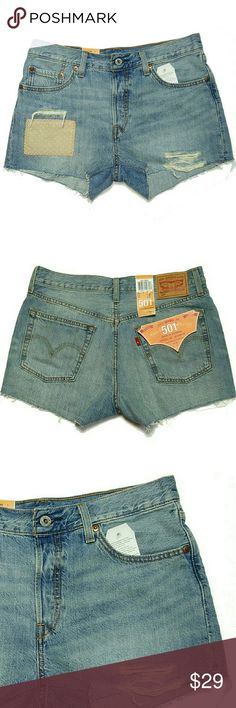 NWT LEVI STRAUSS 501 Distressed Jean Shorts Brand new with tags NWT LEVI'S STRAUSS distressed jean shorts. Size 28. Excellent condition. New! Levi's Jeans