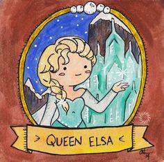 Queen Elsa - Signed Watercolor Print