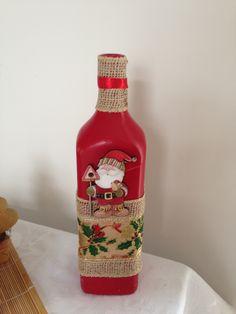 Garrafa decorada de Natal