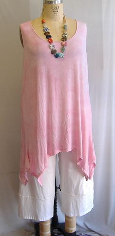 Coco and Juan Lagenlook Plus Size Pink Tie Dye by COCOandJUAN, $29.00