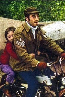 "John Lennon riding the Honda ""monkey bike""  This bike has been in my family for over 42 years and is currently for sale ;-) no joke...."