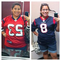 30 lbs lighter! I'm Ready for some Football!!! Had to get new Jerseys! Go TEXANS!!!