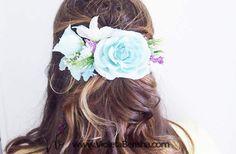My work Spring hair #wedding #hair #spring #flowers #romantic