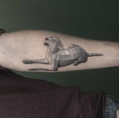 Geometric Dog Tattoo Now, This is something I want. But I would have MANY DOGS On My Arm. As Memorials. Lol.