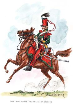 6th Chasseurs a Cheval, 1810 by Eugene Leliepvre.
