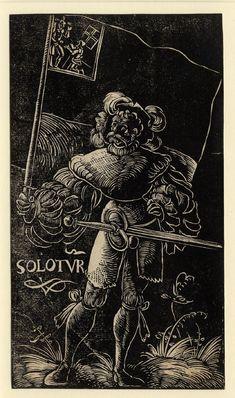 Artist: Graf, Urs, Title: Standard Bearer of Solothurn, Date: 1521