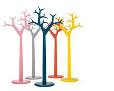 The Swedese Tree Coat Stand is a popular and iconic design from Katrin Petursdottir & Michael Young. Mimicking the shape of a tree, these colourful objects also act as coat and hat stands. Buy now at Utility Design. Tree Coat Rack, Coat Tree, Coat Racks, Scandinavian Furniture, Contemporary Furniture, Nordic Design, Scandinavian Design, 3d Puzzel, Wooden Coat Rack