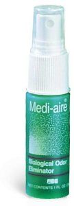 Medi-aire Biological Odor Eliminator 8oz Spray bottlefr French ... by Unknown. $16.07. Quantity of 1. Picture is of general product line - may not be actual product. Please refer to description or package qty for quantity. Eliminates unpleasant odors and rejuvenates the air with a long-lasting fresh air scent.