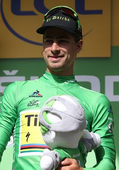 #TDF2016 Peter Sagan of Slovakia and Tinkoff retains the green jersey of best sprinter following stage 18 of the Tour de France 2016 a time trial of 17km...