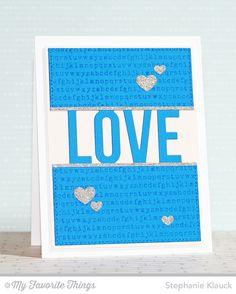 Typewriter Text Background, Love Die-namics, Tag Builder Blueprints 3 Die-namics - Stephanie Klauck #mftstamps