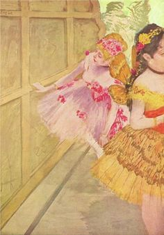 Dancer Against a Stage Flat Edgar Degas