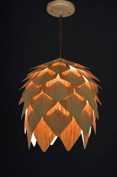Set of Two Mini Pine Cone Pendant Light-Hanging Lamp-Lighting-Ceiling Light-Dine Light-Lighting Pendant-Chandelier Lighting-Chinese Ash - All For Decoration Pendant Chandelier, Hanging Pendants, Chandelier Lighting, Chandeliers, Dining Room Light Fixtures, Dining Lighting, Wooden Canopy, Wood Lamps, Wooden Lampshade
