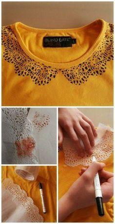 Camiseta con cuello DIY