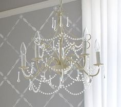 Find nursery chandeliers at Pottery Barn Kids and add some luxury into the room. Shop kids room chandeliers including beaded chandeliers and pendants to add some accent lighting. Kids Chandelier, Nursery Chandelier, Bathroom Kids, Girly Room, Baby Decor, Pottery Barn, Pottery Barn Kids Chandelier, Chandelier Lighting Bedroom, Chandelier