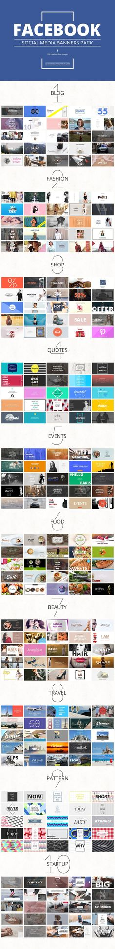 Massive Social Media Banners Pack #facebook #twitter #pinterest #instagram… #socialmediameasurementmedium