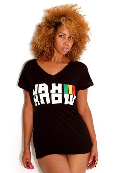 "Jah Know reggae t-shirt $20.00 at cyevolution.com  100% COTTON  Cooyah Vintage Tee  Long Body Fit For Women  ""Jah Know"" Is Jamaican Slang Term From Jamaica To New York  Hot Reggae T-shirt With Rasta Colors Get Yours Today! #Rasta #Fashion #Cooyah"