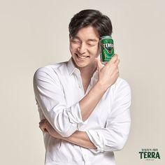Korean Drinks, Korean Military, Yoo Gong, Kyung Hee, Coffee Prince, Male Photography, Male Poses, Studio Portraits, Print Ads