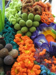 Crochet Reef Coral. Holy crap this is beautiful.