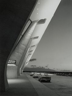 Eero Saarinen -Dulles. Airport parking as it should be.