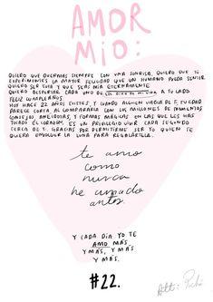 Diciembre 15/2018 Cartita para mi amor: Att: Poché Love Phrases, Love Words, Couple Quotes, Love Quotes, Just For You, Love You, My Love, Frases Love, Love Messages