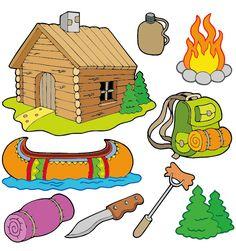 Camping Clip Art | Cartoon Camping Clip Art Pictures