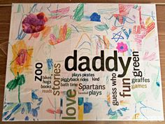 Father's Day wordle canvas collage