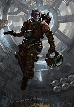 Futuristic Astronaut - Pics about space