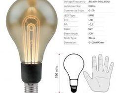 LED žiarovka G100 Filament - MODERN - E27, 5W, 250lm, Teplá biela (2)