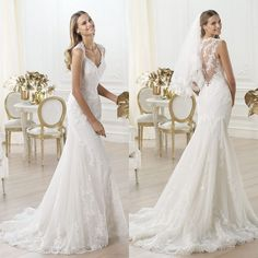 wedding dress with lace back - dresses for guest at wedding Check more at http://svesty.com/wedding-dress-with-lace-back-dresses-for-guest-at-wedding/