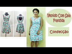 Vestido Com Saia Franzida - Costura / Confecção - YouTube