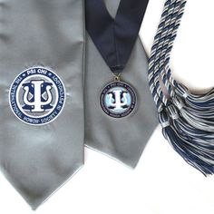 Stole, TriColor Medallion, & Cord Combo - Want for Graduation! Psi Chi!