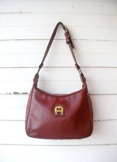 25% OFF SALE Vintage 1970s ETIENNE Aigner Burgundy Leather Purse f43f317b275ac