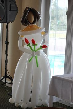 Wedding # bride ballons #decor +++NOVIA BODA GLOBOS FIGURA