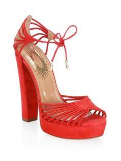d63cd75ff24a AQUAZZURA Josephine Plateau Suede Platform Sandals.  aquazzura  shoes