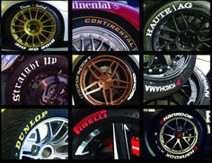 Tire stickers seemed to have risen in popularity, so let's look at some of the alternatives and if they are worth applying. The most obvious application is to give OEM tires a bit more 'wow' factor. The stickers themselves can say anything you like, from regular tire manufacturer's names, 'Dunlop', 'Toyo' to any custom lettering …
