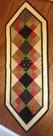 Finished Table Runner by myreddoordesigns on Etsy, $30.00