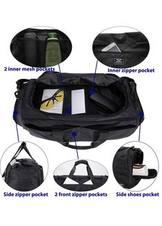 MIER Gym Bag for Women and Men Sports Duffle with shoe Compartment fcba0847d2892