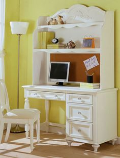 Crystal Desk and Hutch from http://www.jeromes.com/furniture/bedrooms/kidz-to-teens/kidz-to-teens-bedrooms,HHF57,HHF57YF14