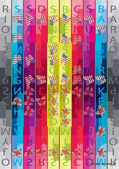 """""""Rio 2016 Olympic Games: Swim like a Butterfly!!! Team GB v Team USA! Heavy v Muted!"""" by Vincent da Vinci. Digital Art (Giclée) on Paper, Subject: Abstract and non-figurative, Urban and Pop style, From a limited edition of 25, Signed and numbered on the front, This artwork is sold unframed, Size: 21 x 30 x 0.1 cm (unframed), 8.27 x 11.81 x 0.04 in (unframed), Materials: Digital Print on Paper"""