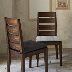 Degraw Chair matches Carroll table - chairs are very upright, but not uncomfy