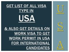 All types of visa in USA Get details on working visa Read important presentation to know Purpose of All the available visa types in USA and get information on work visa in USA. https://www.scribd.com/presentation/350617780/All-Types-of-Visa-in-USA-Get-Details-on-Working-Visa