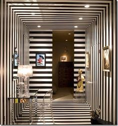 Lacquer stripe entry walls | From the Shiny Pebble | via eclecticinterior...